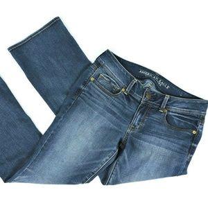 American Eagle Blue Jeans Size 8 Short Kick Boot